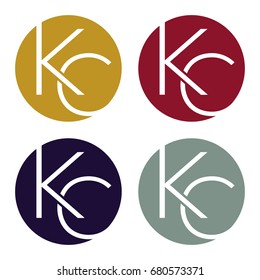 Circle logo icon with a combination of two-letter initials, K and C.