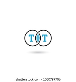 Circle Logo Letter TT Design. Can be adapt to Corporate identity, logo, icon, symbol and brand identity.