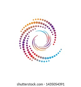 circle logo template vector design