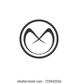 circle with m letter logo