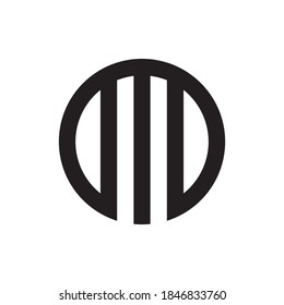 Circle with M letter logo design vector