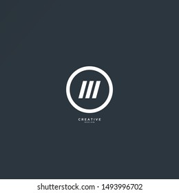 Circle M logo with elegant and sleek design. suitable for technology, sports and other logos.