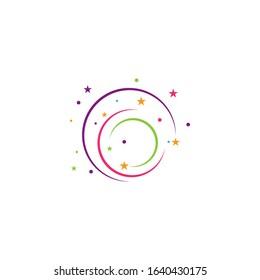 Circle magic swirl logo vector illustration