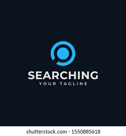 Circle Magnifying Glass, Search, Zoom, Find Logo Design Template