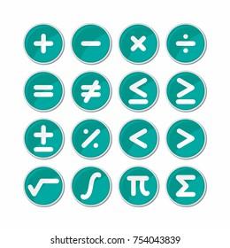 Circle mathematics symbol icon vector.