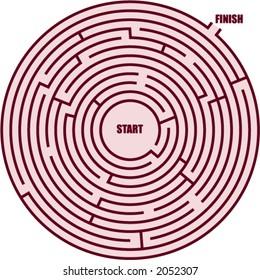 a circle maze