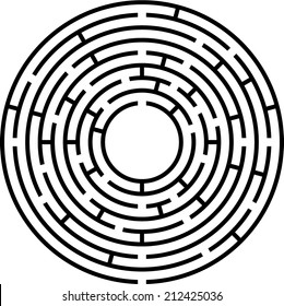 circle maze (vector)