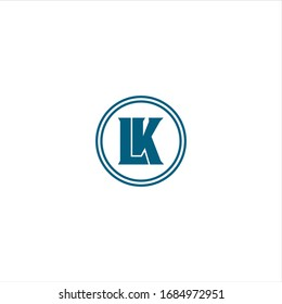 Circle Monogram Initials LK Letter Logo Design Vector