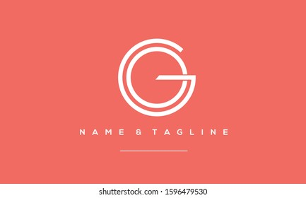circle monogram logo GO,OG,G and O