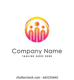 circle network people group logo template