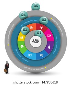 Circle with number. Can use for business concept , Education diagram.