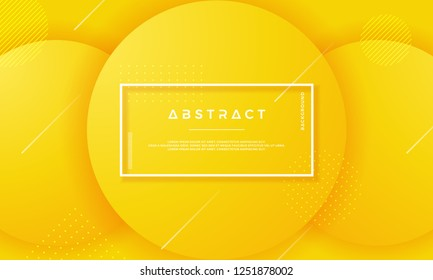 Circle Orange Minimal vector background. Abstract geometric vector background with 3d style.