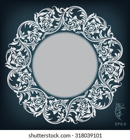 circle ornament  frame, vector illustration