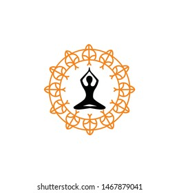 circle ornament for medical product logo or label and to yoga wellnes fitnes body care for healthy life style