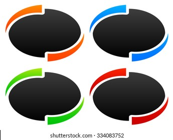 Circle, oval, ellipse design elements / backgrounds. vector graphic