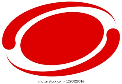 Circle, oval, ellipse element with surrounding lines