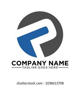 Circle P logo template