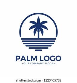 Circle palm logo design
