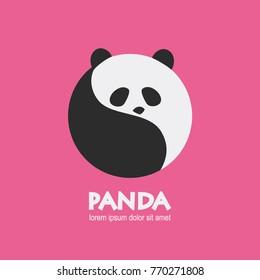circle panda vector logo