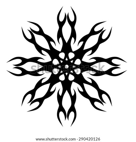 Circle Pattern Decorations Elements Motif Vector Stock Vector