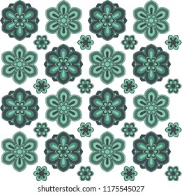 Circle pattern Ethnic decoration, vector drawing. It can be used as logo, emblem, avatar, wall decoration, wall table, banner, fabric and textile pattern.