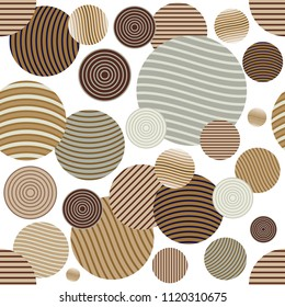 Circle pattern. Modern stylish texture. Repeating spiral abstract background for wallpaper.