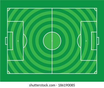 Circle pattern Soccer field