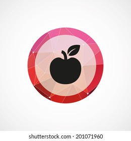 circle pink triangle background apple icon