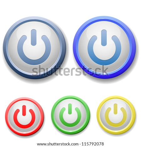 Circle Power Off Icon Stock Vector Royalty Free 115792078