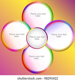 circle presentation, vector illustration