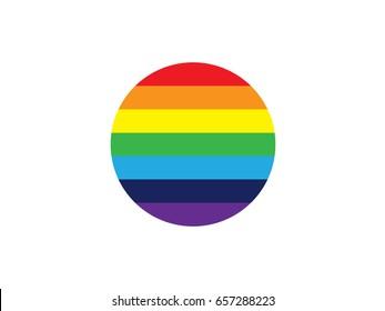 circle rainbow flat