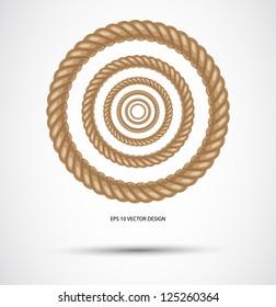 Circle rope illustration vector.