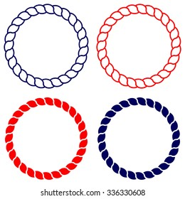 Circle rope vector line art isolated