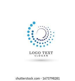 Circle & Round Dotted Logo. Symbol & Icon Vector Template.