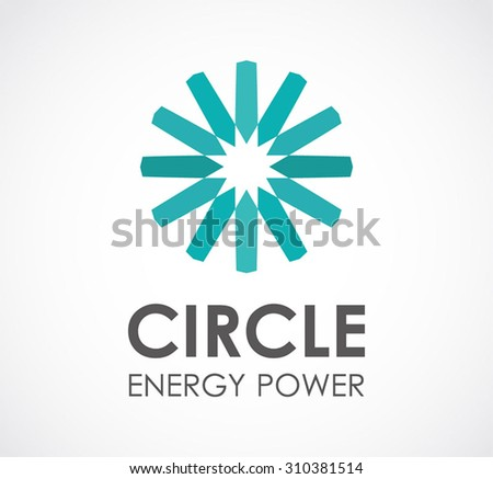 Circle Round Line Ribbon Sun Energy Stock Vector Royalty Free