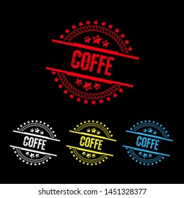 circle rubber stamp with the text coffe. coffe rubber stamp, label, badge, logo,seal