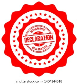 circle rubber stamp with the text declaration. declaration rubber stamp, label, badge, logo,seal. Designed for your web site design, logo, app, UI