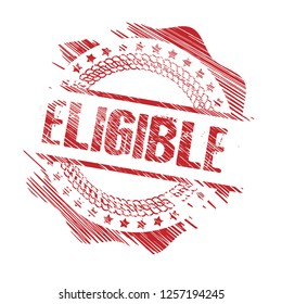 circle rubber stamp with the text eligible eligible rubber stamp, label, badge, logo,seal