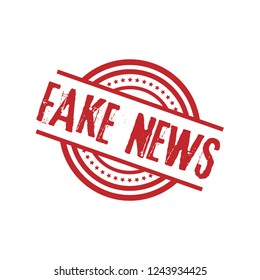 circle rubber stamp with the text fake news. fake news rubber stamp, label, badge, logo,seal