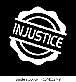 circle rubber stamp with the text injustice. injustice rubber stamp, label, badge, logo,seal