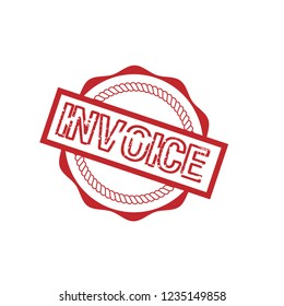 circle rubber stamp with the text invoice. invoice rubber stamp, label, badge, logo,seal