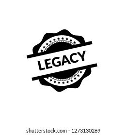 circle rubber stamp with the text legacy. legacy rubber stamp, label, badge, logo,seal