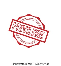 circle rubber stamp with the text privilege. privilege rubber stamp, label, badge, logo,seal