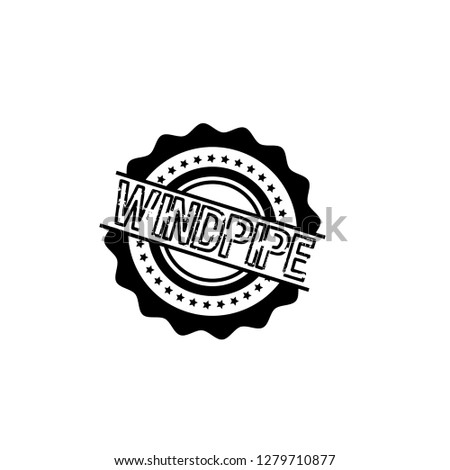 Circle Rubber Stamp With The Text Windpipe Label Badge