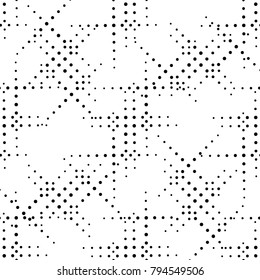 Circle seamless pattern. Geometric dots deco art seamless design