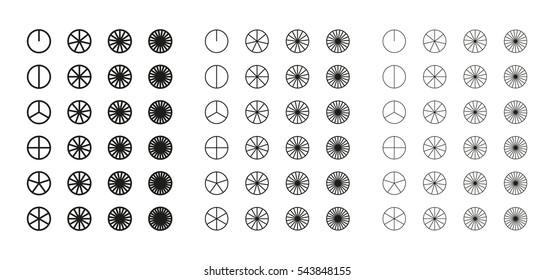 Circle segments icon - vector illustration.