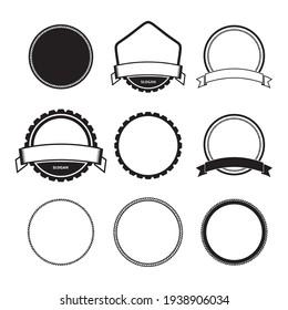 circle shapes logo vintage frame set for business