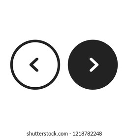 Circle Slider Buttons Arrows Vector