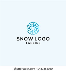 circle snow logo illustration vector icon