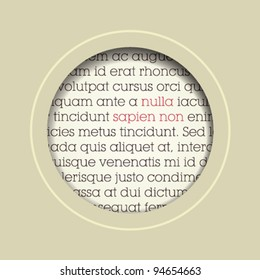 circle speech bubble cut out in paper / vector / beige